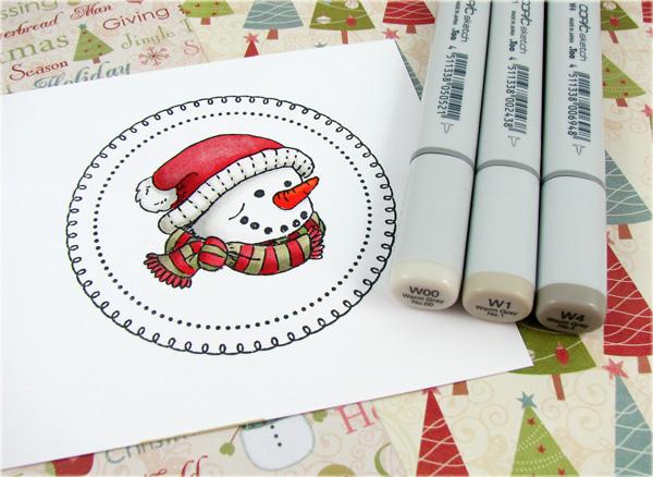 snowman greetings thinking inking