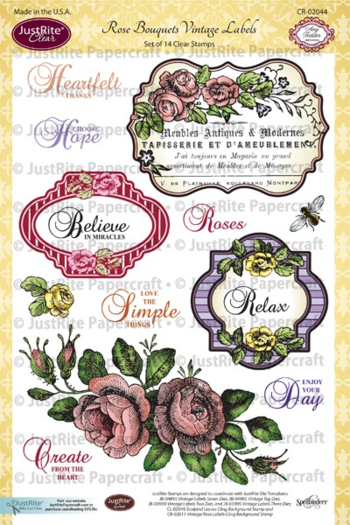 CR02044_Rose_Bouquets_Vintage_Labels_Clear_Stamps_LG