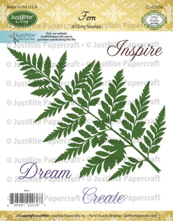 CL02036_Fern_Cling_Stamps