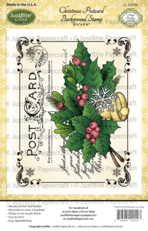 CL02049_Christmas_Postcard_Cling_Background_Stamp_LG