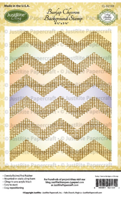 CL02169_Burlap_Chevron_Cling_Background_Stamp