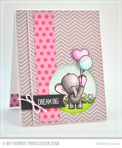 MFT Adorable-Elephants Dream BIg card by Debbie Olson,  www.debbieolsondesigns.com