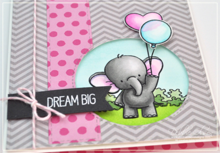 MFT Adorable Elephants Dream BIg card detail by Debbie Olson,  www.debbieolsondesigns.com