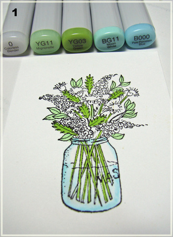 coloring wildflowers with markers thinking inking rh debbiedesigns typepad com Coloring Faces with Copic Markers Copic Marker Coloring Techniques