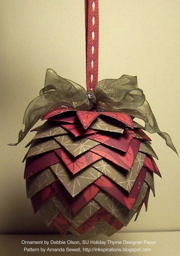 Ornament - Stylish Flower Pattern | Origami and PaperCraft
